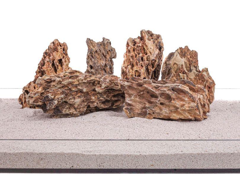 Aquarium Natursteine Drachenstein Deko Felsen braun 1 Stück Gr.XL 2-3 Kg Nr.64