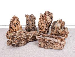Aquarium Natursteine Drachenstein Deko Felsen braun 1 Stück Gr.XL 2-3 Kg Nr.64 Bild 3