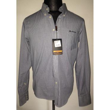 Long Sleeve Shirt - Ben Sherman - blue/ white