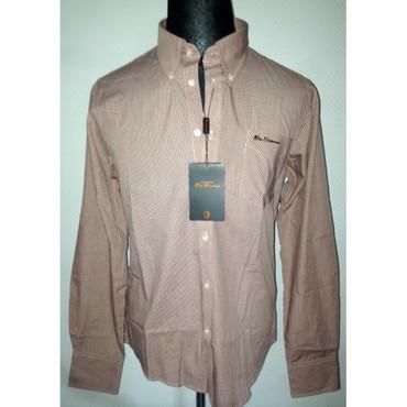 Long Sleeve Shirt - Ben Sherman - orange/ white