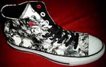 All Star- Converse Chuck Hi CT Red Draugen Milk/Black- 106122