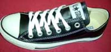 All Star- Converse Chuck- niedrig schwarz- Leder- 1q549