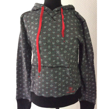 Girlie - Hoodie - Converse - grey with hearts