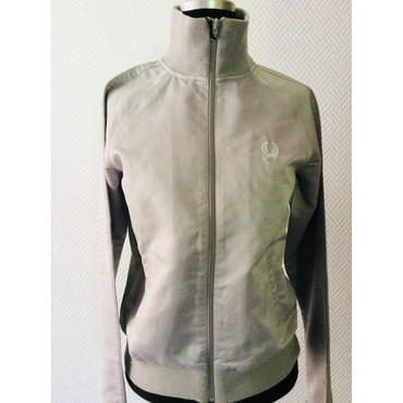 Girlie - Track Jacket - Fred Perry -  silver