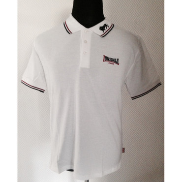 Poloshirt - Lonsdale - weiß