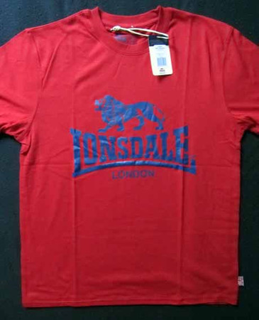 T-Shirt - Lonsdale - Logo - red/ blue