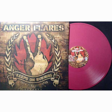 Anger Flares- Keeps on Burning- LP dunkelrot
