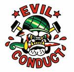Aufkleber- Evil Conduct- Bulldog white