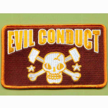 Evil Conduct (Skull- brown) - Patch, embroidered