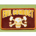 Evil Conduct (Skull- braun) - Patch, embroidered 001