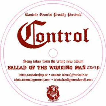 Control- Ballad of a working man- Flexi