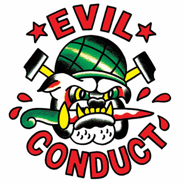 Girlie Shirt- Evil Conduct- Bulldogg- white