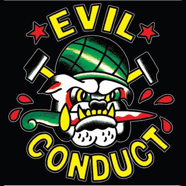 Girlie Shirt- Evil Conduct- Bulldogg- schwarz