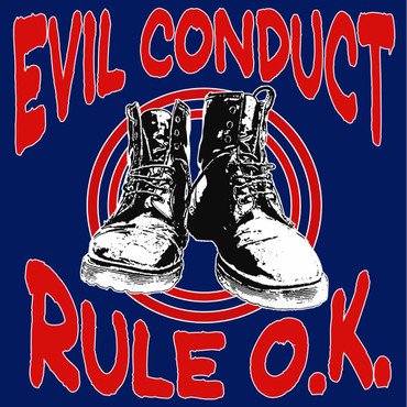 Girlie Shirt- Evil Conduct- Rule O.K- blau
