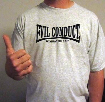 Bandshirt - Evil Conduct - Evildale - Skinhead till I die - graumeliert