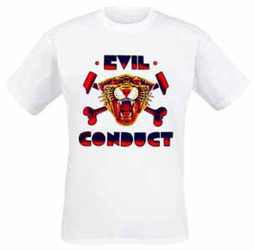 Girlie- T- Shirt- Evil Conduct- Tiger- weiss
