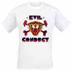 Girlie- T- Shirt- Evil Conduct- Tiger- weiss 001
