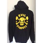 Hoodie Jacket - Evil Conduct - Skull - black