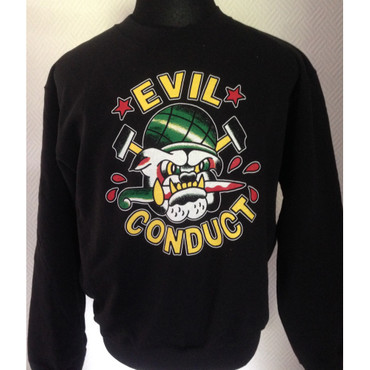 Sweatshirt - Evil Conduct - Bulldog - black