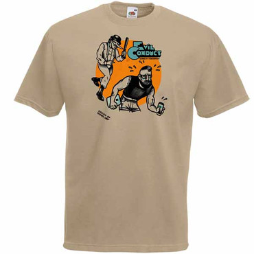 Girlie- T- Shirt Evil Conduct- gone by....khaki