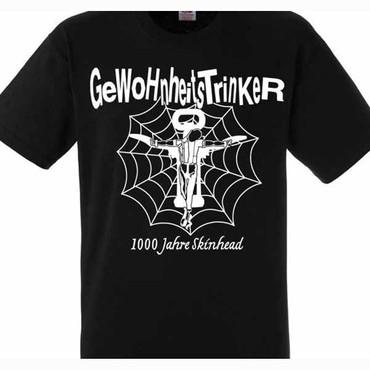 T-Shirt - Gewohnheitstrinker - 1000 Jahre Skinhead - schwarz