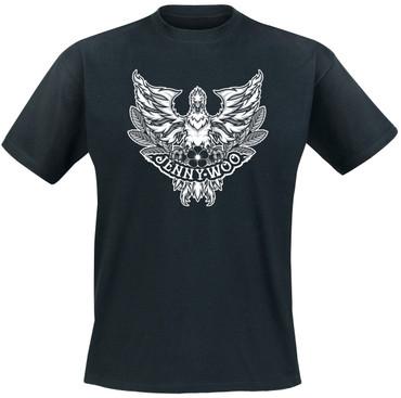 Girlie- T- Shirt- Jenny Woo- Adler- schwarz