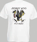 Girlie T-Shirt- Jenny Woo- Fly away- white