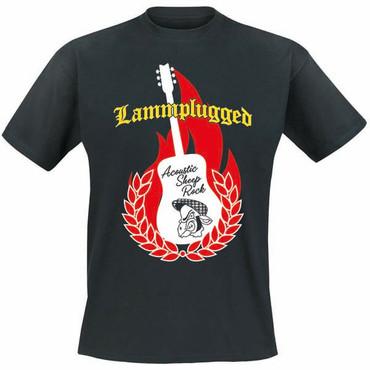 Girlie T-Shirt- Lammplugged- schwarz
