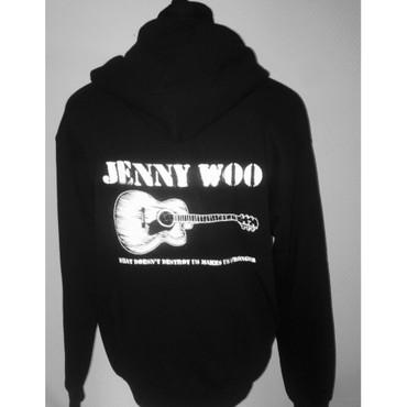 Hoodie Jacket - Jenny Woo - guitar - black – Image 1