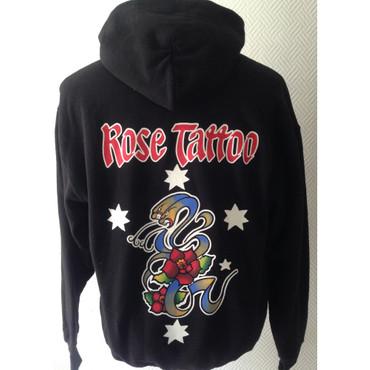 Kapuzenjacke - Rose Tattoo - schwarz – Bild 1
