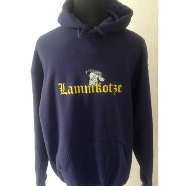 Kapuzenpullover - Lammkotze - Logo - blau
