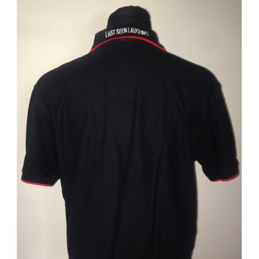 Poloshirt - Last Seen Laughing - black – Image 2