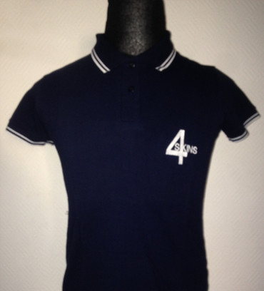 Girlie - Poloshirt - 4 Skins - blau/ white