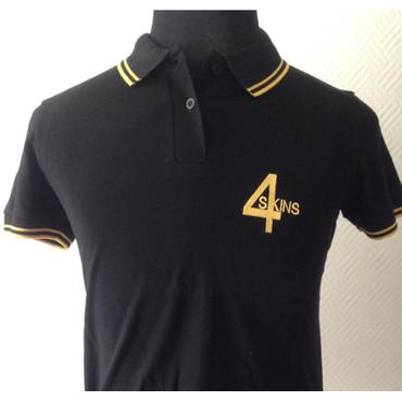Girlie - Poloshirt - 4 Skins - schwarz/ gelb