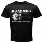 T-Shirt - Jenny Woo - Gitarre - schwarz