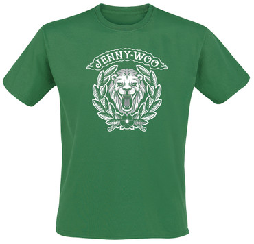 T-Shirt - Jenny Woo - Löwe - grün