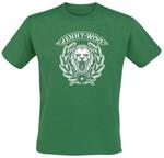 T-Shirt - Jenny Woo - Löwe - grün 001