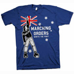 T-Shirt - Marching Orders - Worth the fight - blau