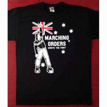 Band T-Shirt- Marching Orders- Worth the fight- schwarz