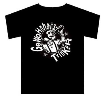 T-Shirt - Gewohnheitstrinker - Bandlogo - schwarz