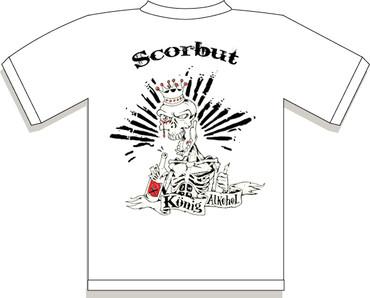 T-Shirt - Scorbut - König Alkohol - white