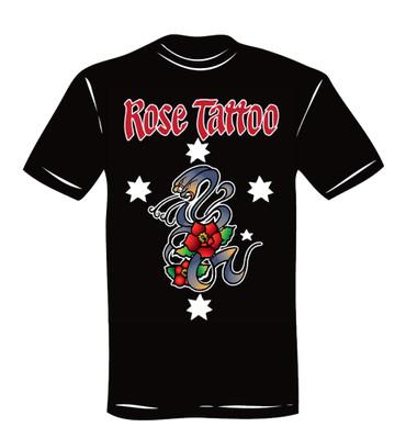 T-Shirt - Rose Tattoo - schwarz