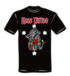 T-Shirt - Rose Tattoo - schwarz