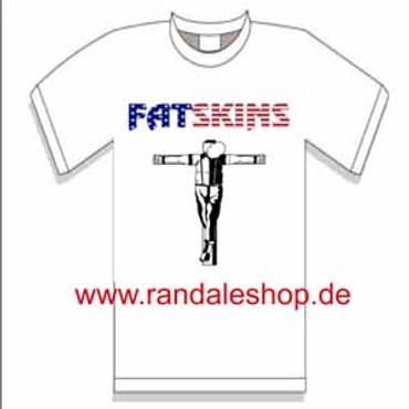 Fatskins- T-Shirt- Crucified- weiss