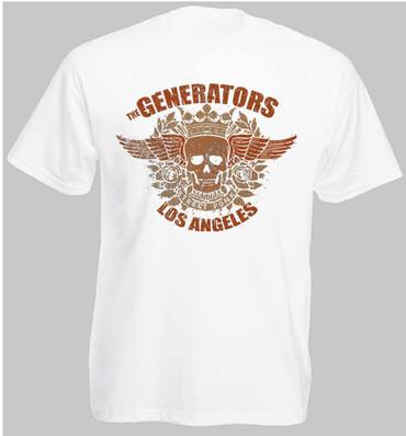 T-Shirt - The Generators - Skull - weiß