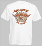 T-Shirt - The Generators - Skull - weiß