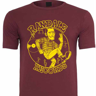 T-Shirt - Randale Records - oxblood/ yellow