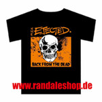 T-Shirt - The Ejected - Skull - black/ orange