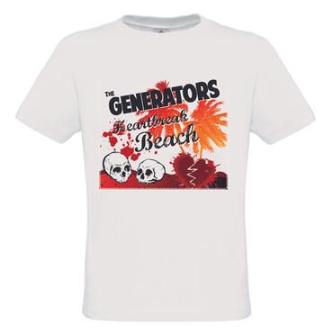 Girlie Shirt- The Generators- Heartbreak- white/weiss
