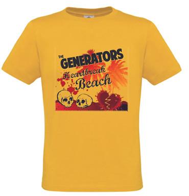 Girlie Shirt- The Generators- Heartbreak- gelb/yellow